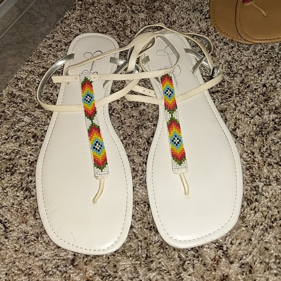 Jessica Simpson Shoes - Jessica Simpson beaded sandals size 9